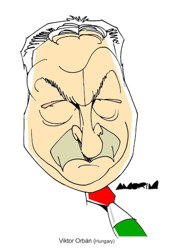 Cartoon: Viktor Orban (medium) by Amorim tagged viktor,orban,hungary