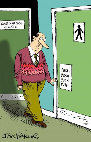 Cartoon: Greeting Card (medium) by Ian Baker tagged hospital,clinic,medical,toilet,humour,constipation,greeting,card