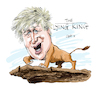 Cartoon: Boris Johnson (small) by Ian Baker tagged boris,johnson,ian,baker,caricature,cartoon,politics,prime,minister,conservative,party,uk,world,trump,lion,king,disney,animation,film,kids,cinema,hair,cliff,illustration