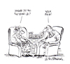 Cartoon: Getting old (small) by Ian Baker tagged ian,baker,gag,cartoon,humour,comedy,satire,private,eye,couple,old,age,ageing,argument,looks,face,sitting,chairs