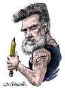 Cartoon: Lucido (small) by Ian Baker tagged lucido lucido5 lucian romania cartoonist caricatures pencil tattoo toonpool