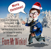 Cartoon: Mr Winkie Christmas CD (small) by Ian Baker tagged ian,baker,mr,winkie,cd,cover,music,christmas,puppet,ventriloquist,snow