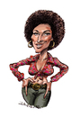 Cartoon: Pam Grier (small) by Ian Baker tagged pam,grier,seventies,film,movies,blaxploitation,ian,baker,caricature,foxy,brown,afro,sexy,cartoon,action