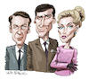 Cartoon: The Champions (small) by Ian Baker tagged the,champions,stuart,damon,ian,baker,caricature,cartoon,celebrity,actors,alexandra,bastedo,richard,barret,william,gaunt,60s,1960s,itc,spy,tv,series,geneva,craig,stirling,sharon,mccready
