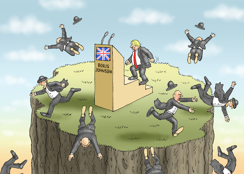 Cartoon: BORIS JOHNSON KOMMT (medium) by marian kamensky tagged brexit,theresa,may,england,eu,schottland,weicher,wahlen,boris,johnson,nigel,farage,ostern,seidenstrasse,xi,jinping,referendum,trump,monsanto,bayer,glyphosa,strafzölle,brexit,theresa,may,england,eu,schottland,weicher,wahlen,boris,johnson,nigel,farage,ostern,seidenstrasse,xi,jinping,referendum,trump,monsanto,bayer,glyphosa,strafzölle