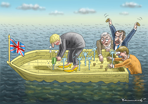 Cartoon: BREXIT SAGA 3 (medium) by marian kamensky tagged brexit,theresa,may,england,eu,schottland,weicher,wahlen,boris,johnson,nigel,farage,ostern,seidenstrasse,xi,jinping,referendum,trump,monsanto,bayer,glyphosa,strafzölle,brexit,theresa,may,england,eu,schottland,weicher,wahlen,boris,johnson,nigel,farage,ostern,seidenstrasse,xi,jinping,referendum,trump,monsanto,bayer,glyphosa,strafzölle