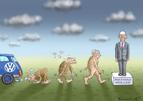Cartoon: DIESELAFFENAFFÄRE (medium) by marian kamensky tagged dieselaffenaffäre,mathias,müller,vw,dieselaffenaffäre,mathias,müller,vw