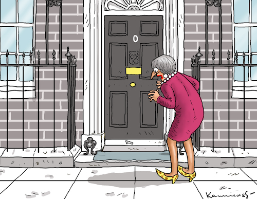 Cartoon: DOWNING STREET NUMBER ZERO (medium) by marian kamensky tagged brexit,theresa,may,england,eu,schottland,weicher,wahlen,boris,johnson,nigel,farage,no,deal,referendum,brexit,theresa,may,england,eu,schottland,weicher,wahlen,boris,johnson,nigel,farage,no,deal,referendum