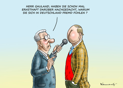 Cartoon: GAULANDS ENTFREMDUNG (medium) by marian kamensky tagged boateng,gauland,afd,nazis,rassismus,boateng,gauland,afd,nazis,rassismus