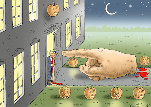 Cartoon: HAPPY HALLOWEEN MR. TRUMP ! (medium) by marian kamensky tagged obama,trump,präsidentenwahlen,usa,baba,vanga,republikaner,inauguration,demokraten,wikileaks,faschismus,jamal,khashoggi,obama,trump,präsidentenwahlen,usa,baba,vanga,republikaner,inauguration,demokraten,wikileaks,faschismus,jamal,khashoggi