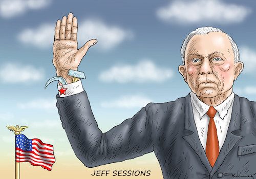 Cartoon: JEFF SESSIONS (medium) by marian kamensky tagged obama,trump,präsidentenwahlen,usa,baba,vanga,republikaner,inauguration,demokraten,fbi,james,comey,jeff,sessions,wikileaks,faschismus,obama,trump,präsidentenwahlen,usa,baba,vanga,republikaner,inauguration,demokraten,fbi,james,comey,jeff,sessions,wikileaks,faschismus