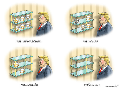Cartoon: NICHT ALLE TASSEN IM SCHRANK (medium) by marian kamensky tagged obama,trump,präsidentenwahlen,usa,baba,vanga,republikaner,inauguration,demokraten,wikileaks,faschismus,obama,trump,präsidentenwahlen,usa,baba,vanga,republikaner,inauguration,demokraten,wikileaks,faschismus