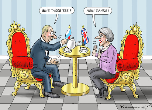 Cartoon: THERESA MAY BESUCHT PUTIN (medium) by marian kamensky tagged theresa,may,putin,sergei,skripal,novichok,russia,kgb,poison,attack,england,agents,präsidentenwahl,in,russland,theresa,may,putin,sergei,skripal,novichok,russia,kgb,poison,attack,england,agents,präsidentenwahl,in,russland