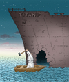 Cartoon: Auge um Auge Leck um Leck (small) by marian kamensky tagged titanic,satire,papst