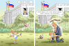 Cartoon: BARRON TRUMP HAT EIN PROBLEM (small) by marian kamensky tagged obama,trump,präsidentenwahlen,usa,baba,vanga,republikaner,inauguration,demokraten,wikileaks,g7,kanada,faschismus,putin,helsinki