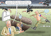 Cartoon: BIDEN BESORGT (small) by marian kamensky tagged us,wahlen,joe,biden,trump,corona,bob,woodward,harris,pence