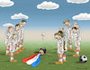 Cartoon: Jogi Löw hat eine Fahne (small) by marian kamensky tagged jogi,löw,deutschland,fussball,holland