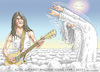 Cartoon: MALCOLM YOUNG  AC DC (small) by marian kamensky tagged malcolm,young,dies,ac,dc