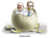 Cartoon: Schnulligate (small) by marian kamensky tagged glaeseker,wulff,prozes