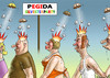 Cartoon: SILVESTERPARTY IN DRESDEN (small) by marian kamensky tagged silvesterparty,in,dresden,pegida