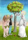 Cartoon: Steve Jobs (small) by marian kamensky tagged steve,jobs,apple,garten,eden,internet,sündenfall,adam,und,eva