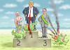 Cartoon: THE CHAMPIONS (small) by marian kamensky tagged coronavirus,epidemie,gesundheit,panik,stillegung,trump,pandemie