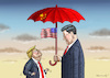 Cartoon: TRUMP IN CHINA (small) by marian kamensky tagged obama,trump,präsidentenwahlen,usa,baba,vanga,republikaner,inauguration,demokraten,in,china,wikileaks,faschismus