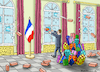 Cartoon: WEIHNACHTSMANN MACRON (small) by marian kamensky tagged macron,gibt,nach,gelbwesten,paris,proteste