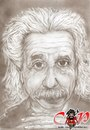 Cartoon: Albert Einstein (small) by corabiapiratilorgmailcom tagged caricaturi,desene,portrete,corabia,piratilor