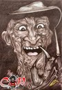 Cartoon: Freddy Krueger (small) by corabiapiratilorgmailcom tagged caricaturi,desene,portrete,corabia,piratilor