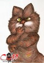 Cartoon: Garfield (small) by corabiapiratilorgmailcom tagged caricaturi,desene,portrete,corabia,piratilor