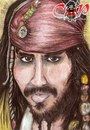 Cartoon: Johnny Depp (small) by corabiapiratilorgmailcom tagged caricaturi,desene,portrete,corabia,piratilor