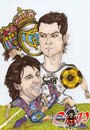 Cartoon: Messi versus CR7 (small) by corabiapiratilorgmailcom tagged caricaturi,desene,portrete,corabia,piratilor
