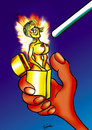 Cartoon: cigarette lighter (small) by Krzyskow tagged animals,art,caricature,character,comic,design,frau,girl,illustration,line,love,man,mann,music,obama,politics,portrait,sport,tiere,money