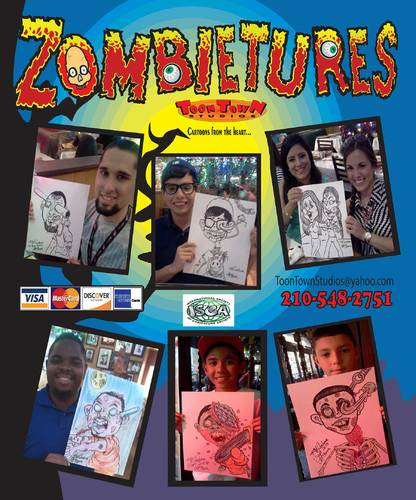 Cartoon: Zombie-tures (medium) by kidcardona tagged zombie,dead,halloween,fun,gift