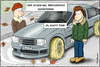 Cartoon: Winterreifen (small) by Andreas Vollmar tagged winter,herbst,kalt,kälte,auto,reifen,winterreifen,autoreifen
