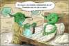 Cartoon: Yoda Privat (small) by Andreas Vollmar tagged yoda,starwars,dagoba,schlafzimmer,sex,macht,jedi