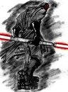 Cartoon: MAUL (small) by sahin tagged maul,darth,aka,badass,star,wars,sith,lord,sci,fic,lightsaber,double