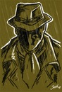 Cartoon: sketch practice 05 (small) by sahin tagged sketch,practice,05,rorschach,watchmen,mask