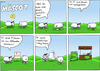 Cartoon: Polyester - Mäscot 45 (small) by maescot tagged webcomic,schaf,niedlich,polyester,anzug