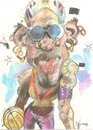 Cartoon: Dennis Rodman (small) by RoyCaricaturas tagged rodman,dennis,nba,basketball,chicago,bulls
