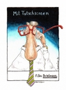 Cartoon: Mit Tatschscreen (small) by geralddotcom tagged brille,fielmann,touchscreen,tatschscreen,nase
