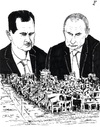 Cartoon: Aleppo siege (small) by paolo lombardi tagged syria,war