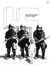 Cartoon: Intolerable Defense (small) by paolo lombardi tagged europe,fascism