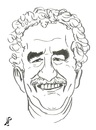 Cartoon: Marquez (small) by paolo lombardi tagged gabo