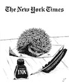 Cartoon: Satire in NYT (small) by paolo lombardi tagged freedom,satire
