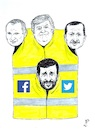 Cartoon: Yellow gilets supporters (small) by paolo lombardi tagged france
