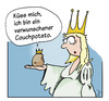Cartoon: Couchpotato (small) by Mergel tagged prinzessin,froschkönig,kartoffel,kuss,hoffnung,partnersuche,partnerschaft,beziehung,träume,erwartungen,traumprinz