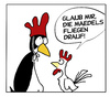 Cartoon: mädelsfliegendrauf (small) by Mergel tagged pinguin,hahn,anmache,liebe