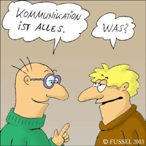 Cartoon: Kommunikation (medium) by fussel tagged kommunikation,missverständniss